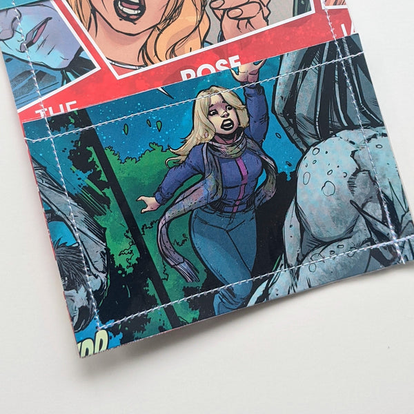 Doctor Who - Upcycled Comic Book Vinyl Wallet