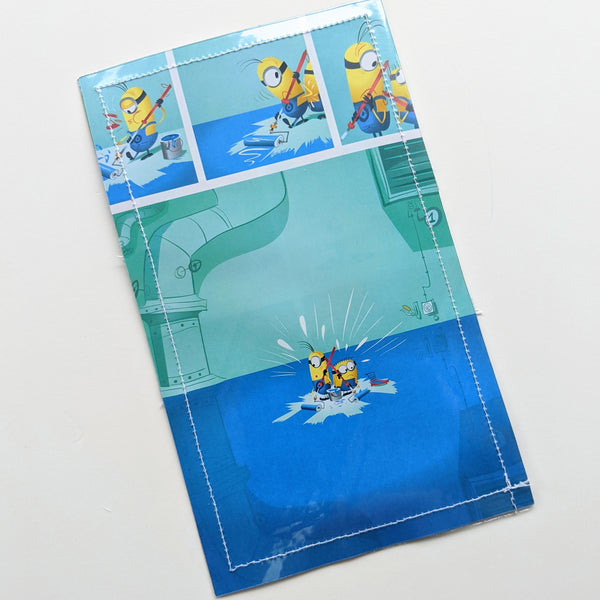 Minions - Upcycled Comic Book Vinyl Wallet