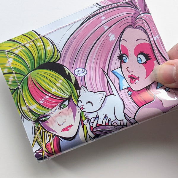 Jem and the Holograms - Upcycled Comic Book Vinyl Wallet