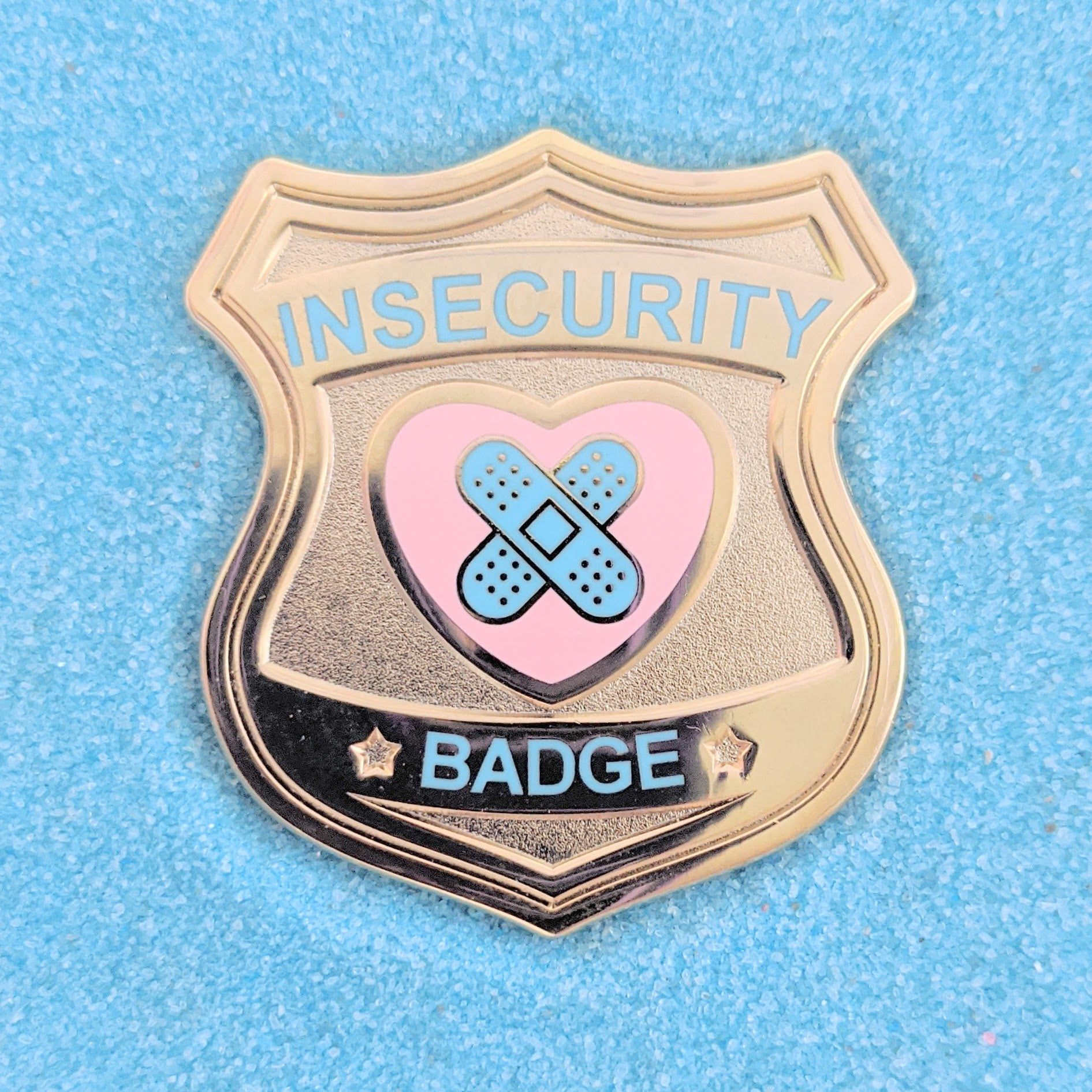 Insecurity Gold Badge - Enamel Pin