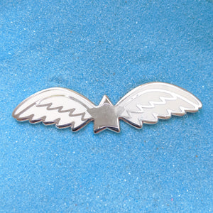 Angel Star Wings Silver - Enamel Pin