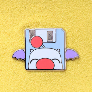 Moogle Save Point Floppy Disk - Enamel Pin