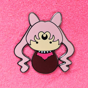 Kokeshi Wicked Black Lady - Enamel Pin