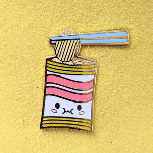 Foodie Chips and Chopsticks - Enamel Pin