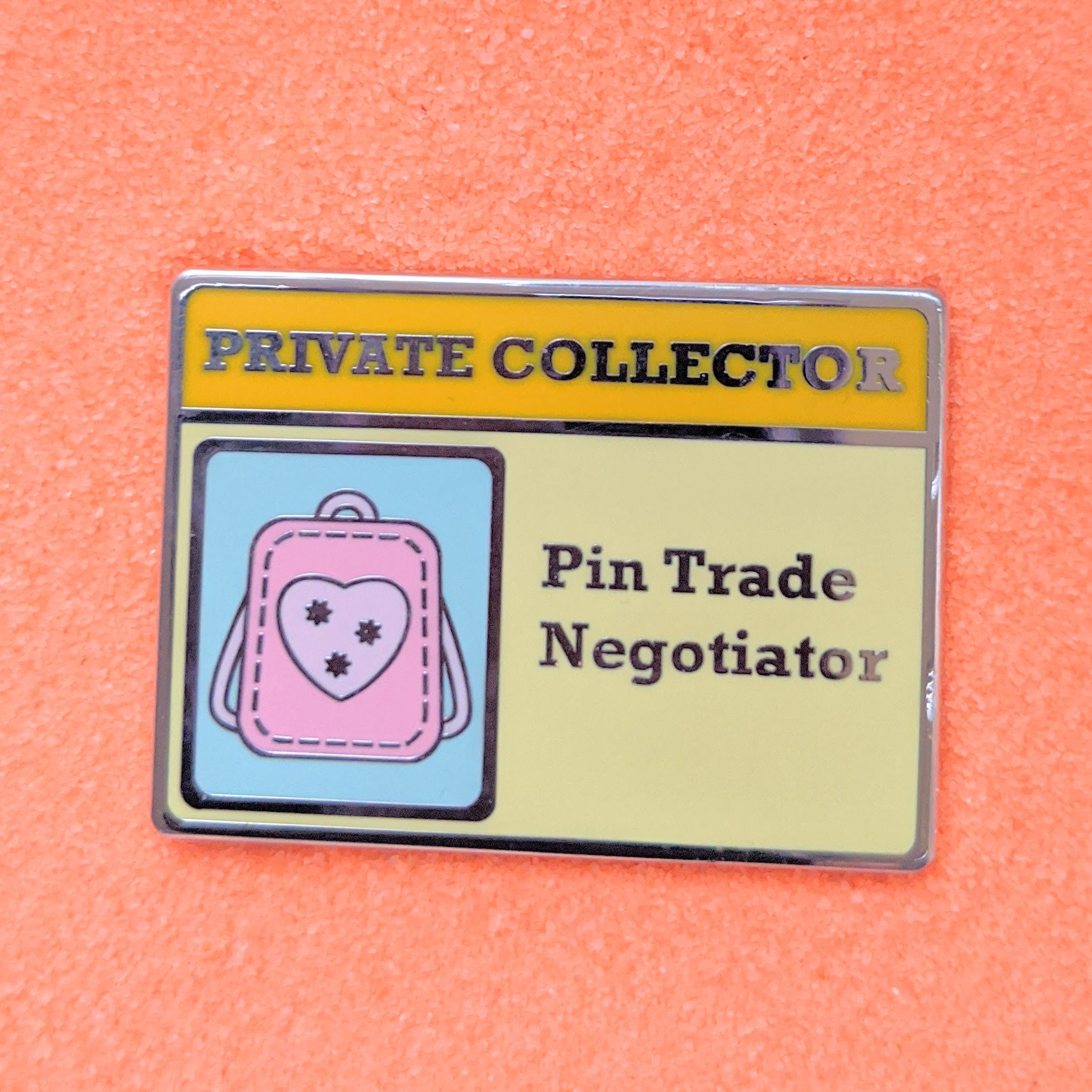 Private Collector Card Pin Trader Negotiator  - Enamel Pin