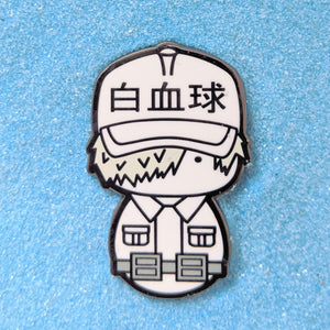 Kokeshi Cells At Work White Blood Cell - Enamel Pin
