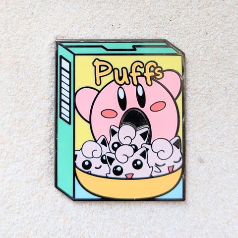 Puff Cereal with Kirby and JigglyPuff - Enamel Pin