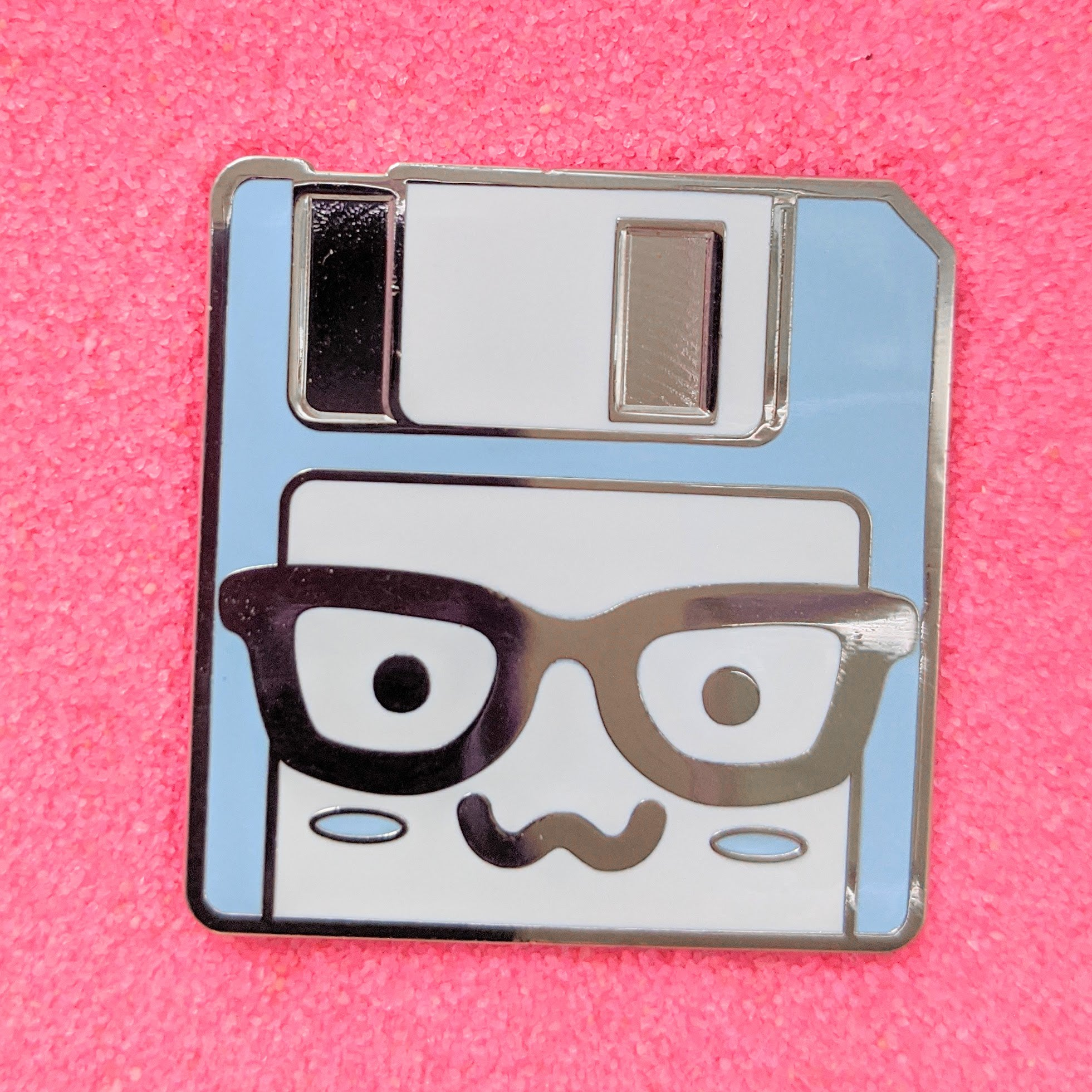 Blue Floppy Disk - Enamel Pin