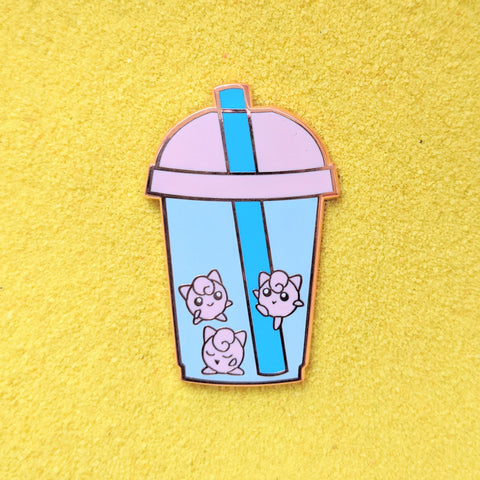 JigglyPuff Bubble Boba Milk Tea- Enamel Pin