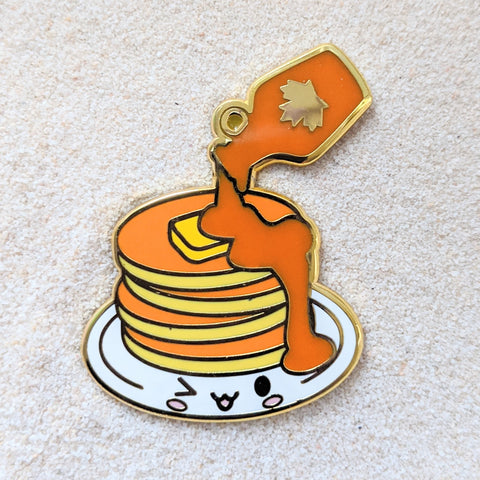 Foodie Pancakes and Maple Syrup - Enamel Pin
