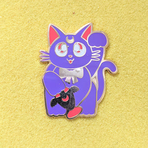 Maneki Neko Lucky Cat Luna- Enamel Pin