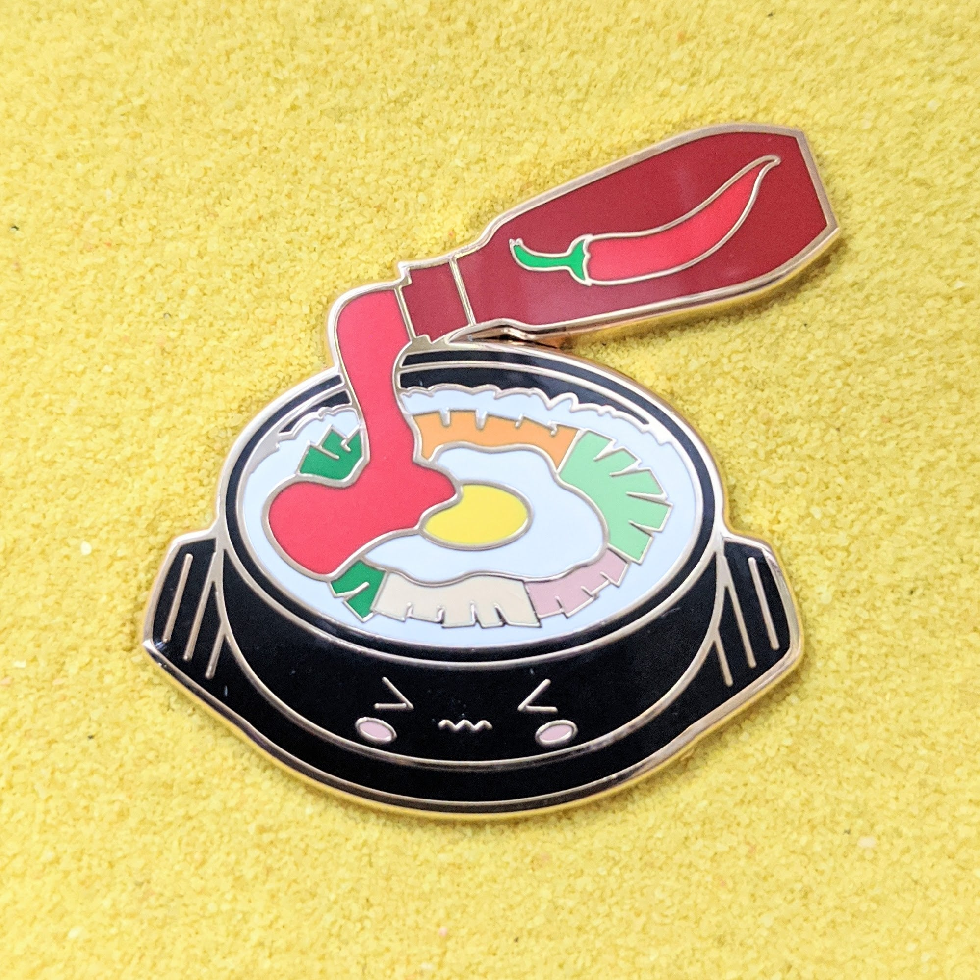 Foodie Korean Bibimbap Stone Rice Pot - Enamel Pin