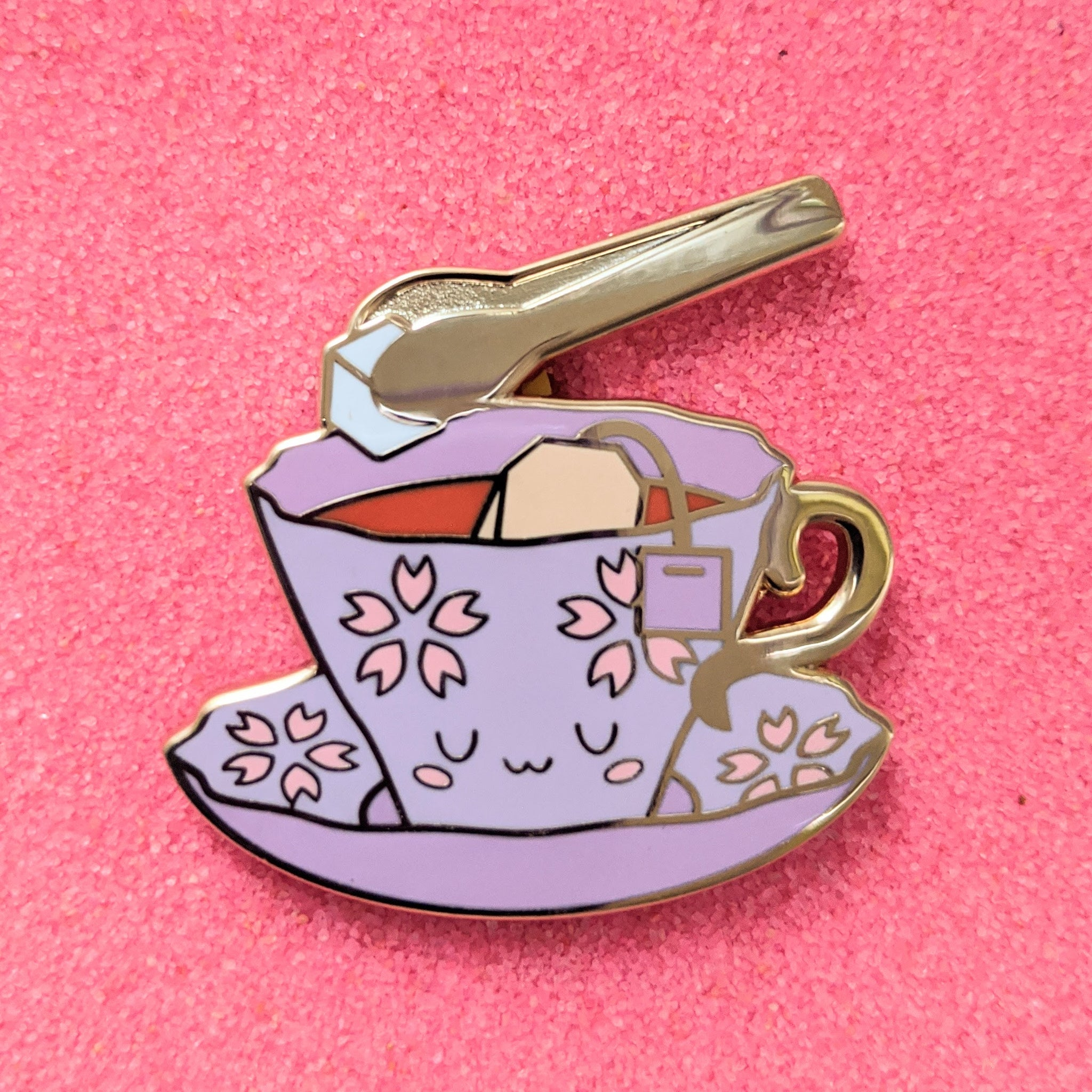Foodie Tea and Sugar - Enamel Pin