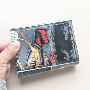 Hellboy - Upcycled Comic Book Vinyl Wallet