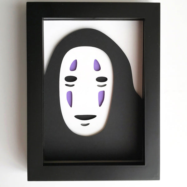 "No Face - 5""x7"" Shaowbox PaperCut"