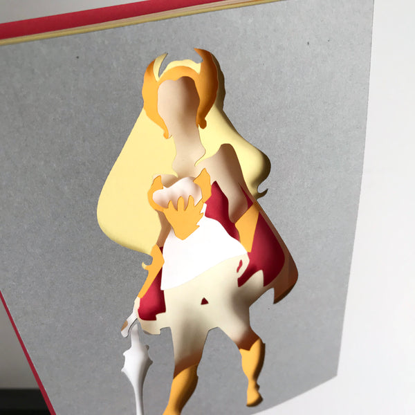 "SheRa - 5""x7"" Shaowbox PaperCut"