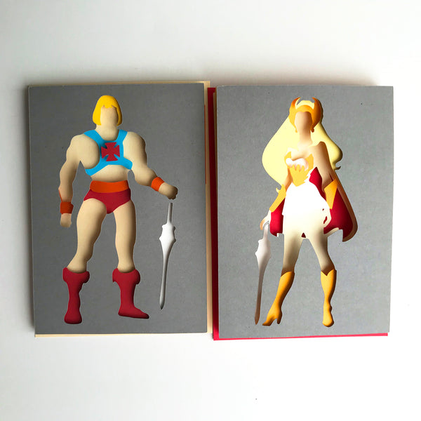 "Heman, Masters of the Universe - 5""x7"" Shaowbox PaperCut"
