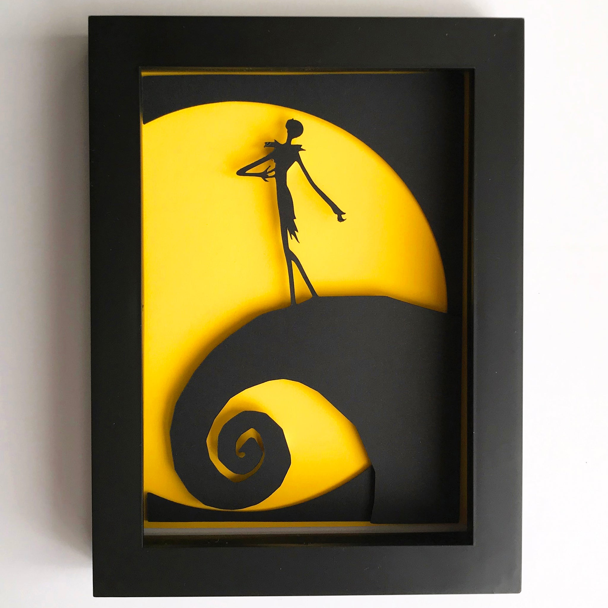 "Jack Skellington, Nightmare Before Christmas - 5""x7"" Shaowbox PaperCut"