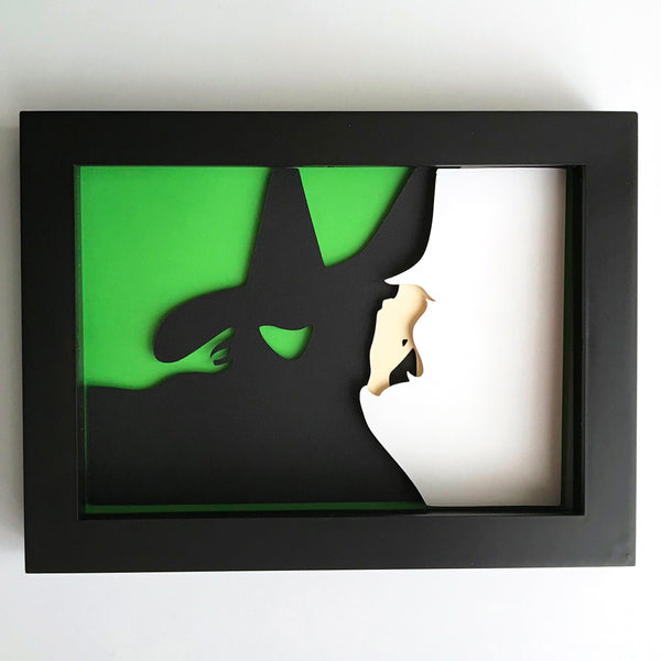 "Wicked - 5""x7"" Shaowbox PaperCut"