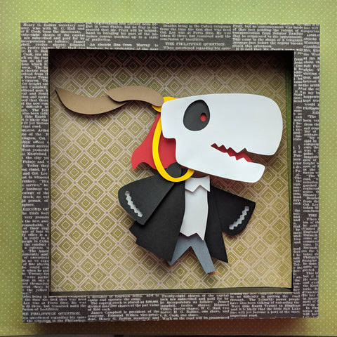 "Two custom shadowboxes for Ben - 8""x8"" Shaowbox PaperCut"