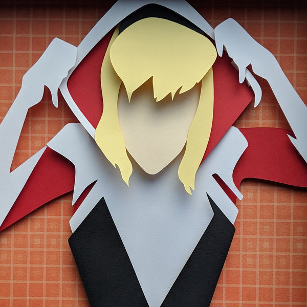 "SpiderGwen - 8""x8"" Shaowbox PaperCut"