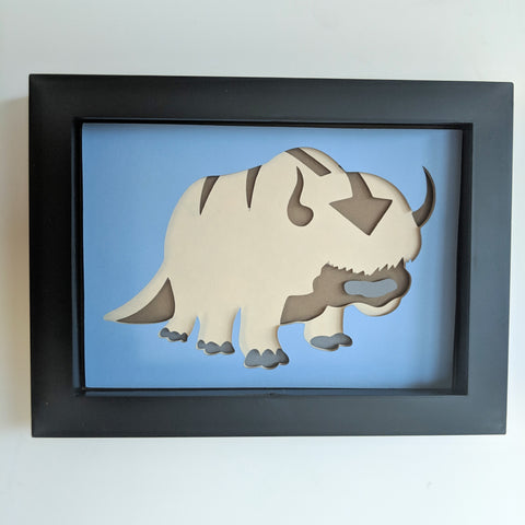 "Appa - 5""x7"" Shaowbox PaperCut"