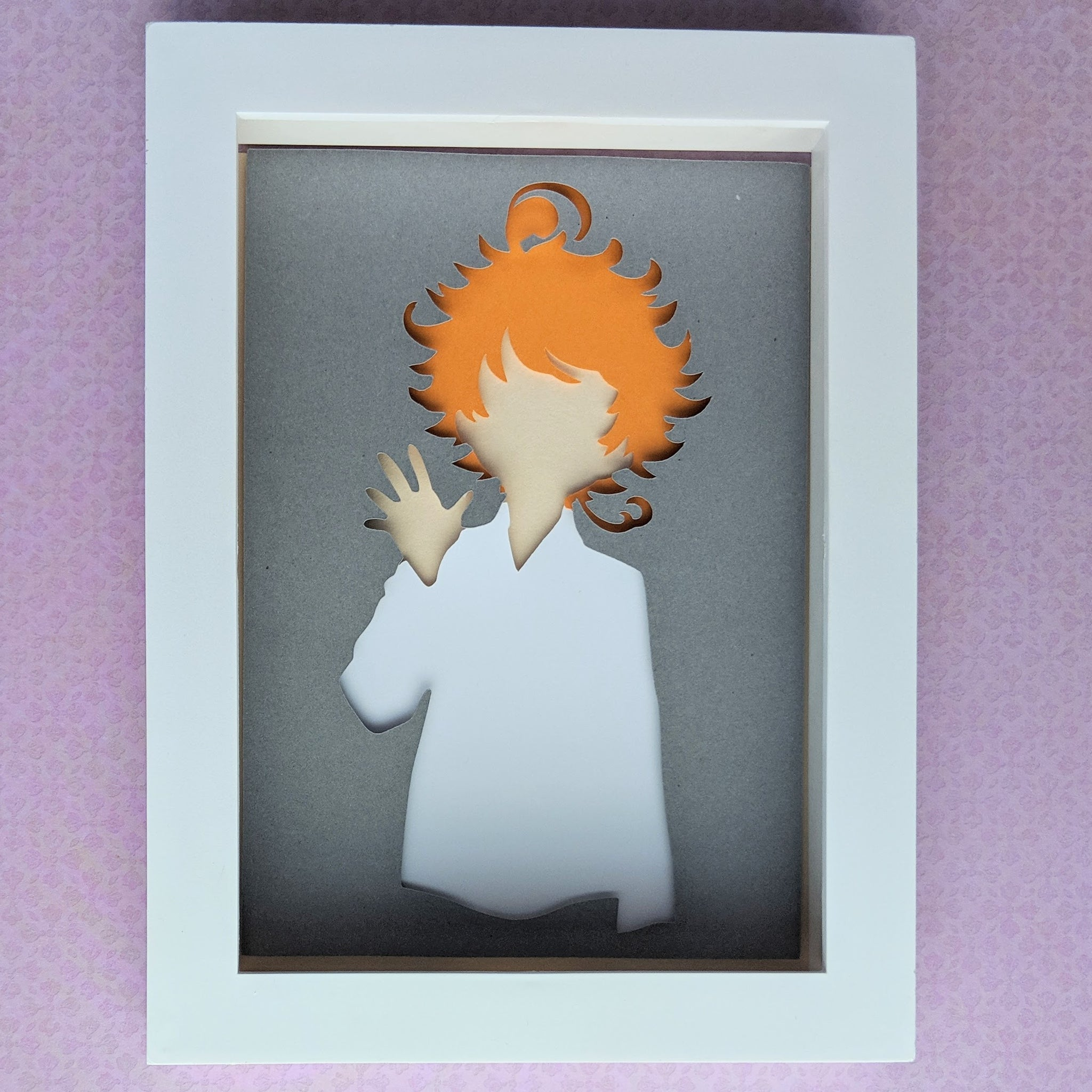 "Emma, Promised Neverland - 5""x7"" Shaowbox PaperCut"