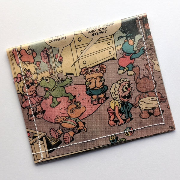 Muppet Babies - Upcycled Comic Book Vinyl Wallet