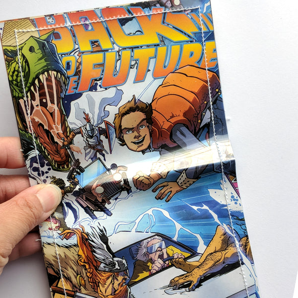 Back to the Future - Upcycled Comic Book Vinyl Wallet