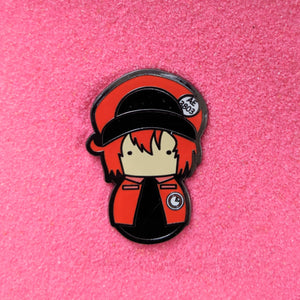 Kokeshi Cells At Work Red Blood Cell - Enamel Pin