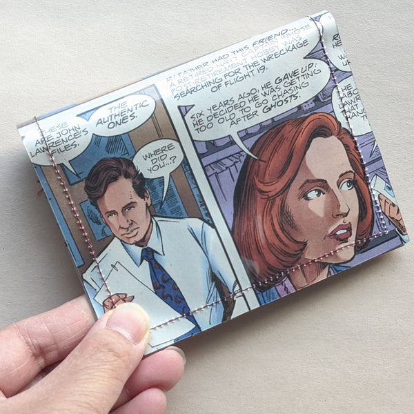 X FIles - Upcycled Comic Book Vinyl Wallet