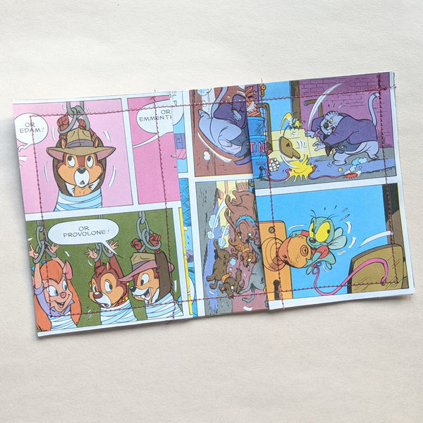 Chip and Dale Resuce Rangers - Upcycled Comic Book Vinyl Wallet