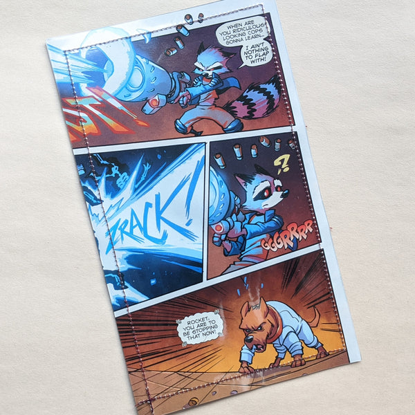 Rocket Raccoon - Upcycled Comic Book Vinyl Wallet