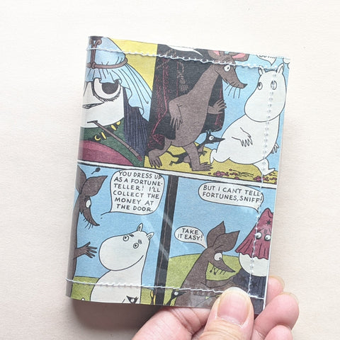 Moomin Valley - Upcycled Comic Book Vinyl Wallet