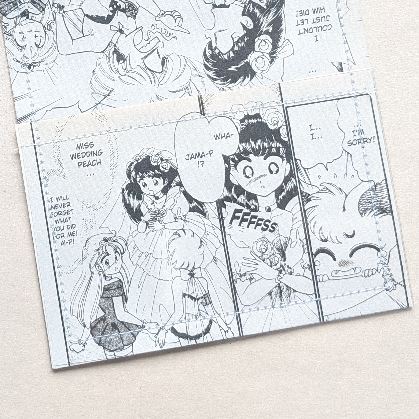 Wedding Peach - Upcycled Comic Book Vinyl Wallet