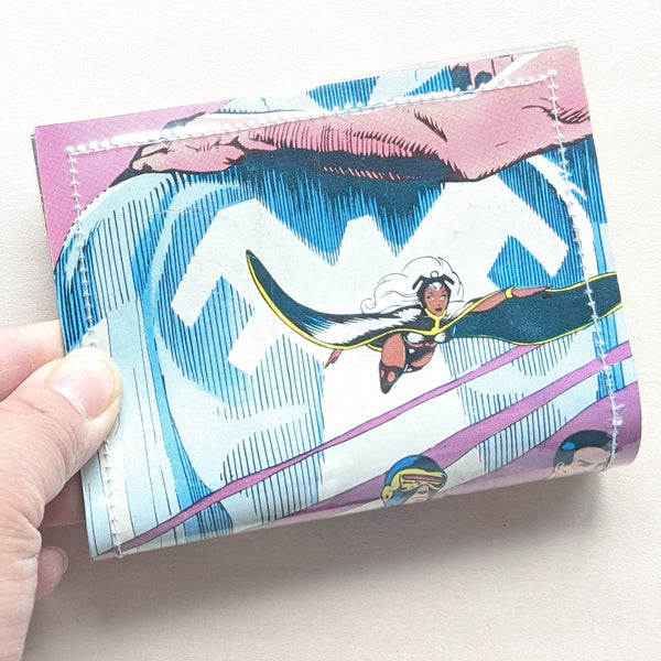 XMen Storm, Cyclops, Nightcrawler - Upcycled Comic Book Vinyl Wallet - Upcycled Comic Book Vinyl Wallet