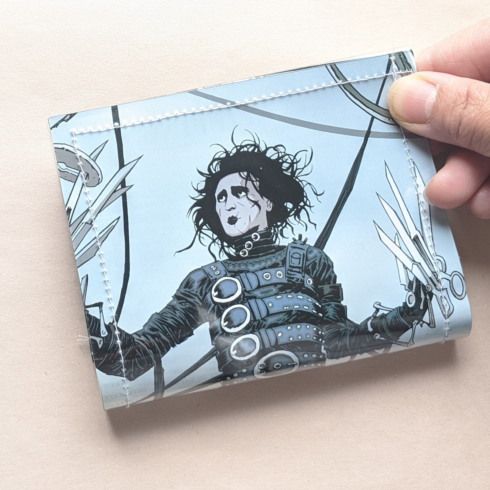 Edward Scissorhands - Upcycled Comic Book Vinyl Wallet - Upcycled Comic Book Vinyl Wallet