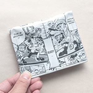 Splatoon - Upcycled Comic Book Vinyl Wallet