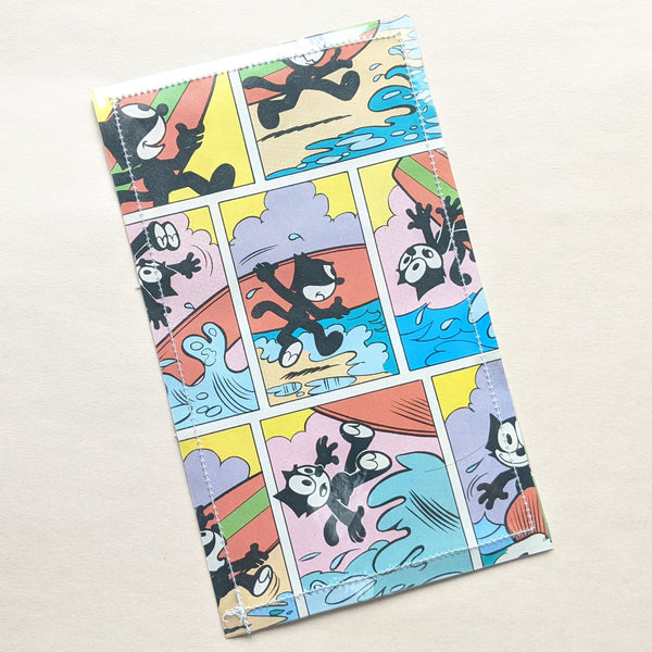 Felix the Cat - Upcycled Comic Book Vinyl Wallet