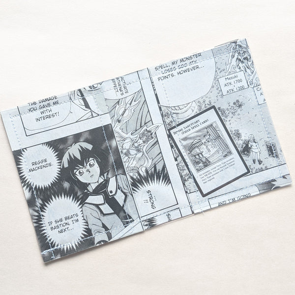 YuGiOh - Upcycled Comic Book Vinyl Wallet