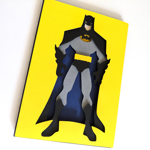 "Batman  - 5""x7"" Shaowbox PaperCut"