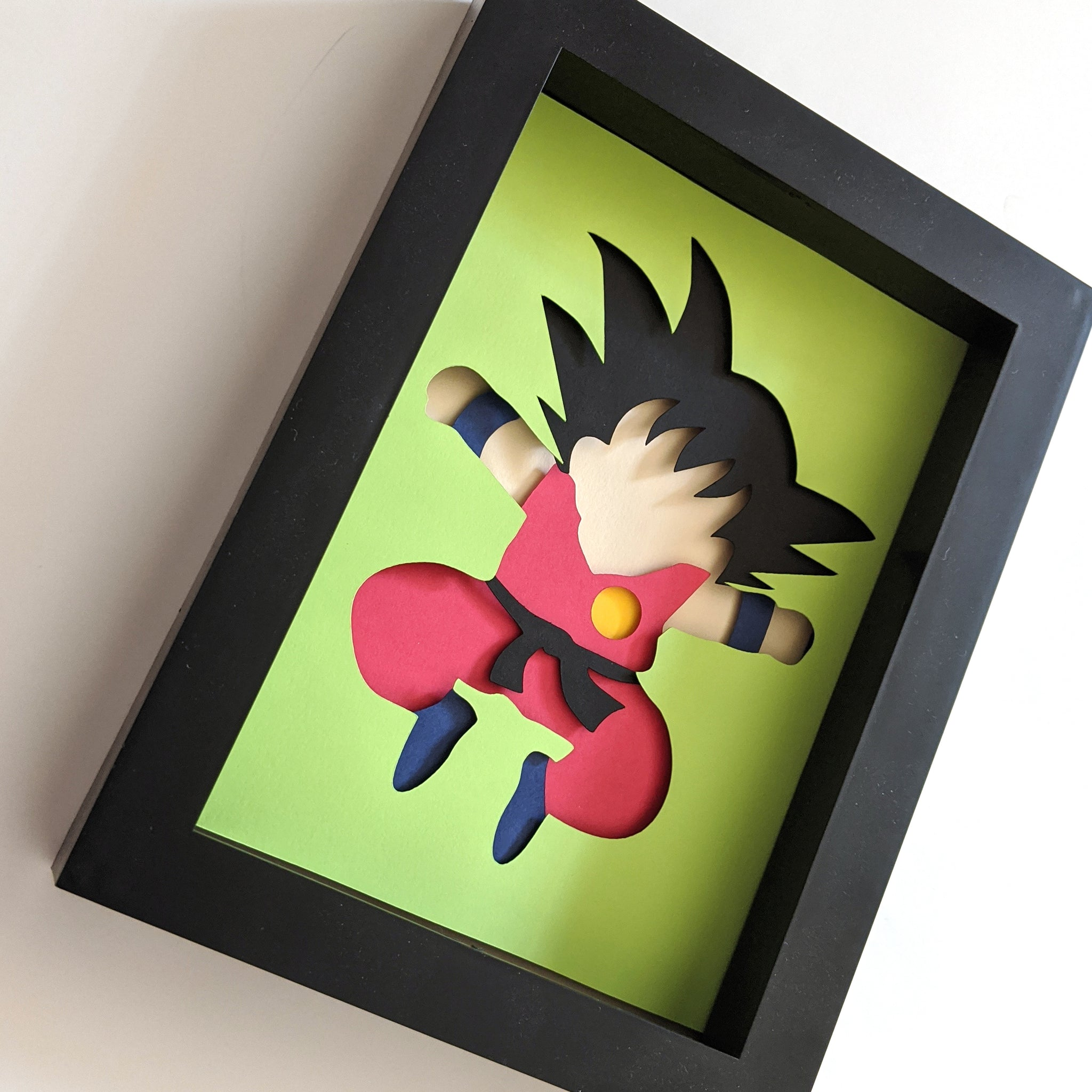 "Goku - 5""x7"" Shaowbox PaperCut"