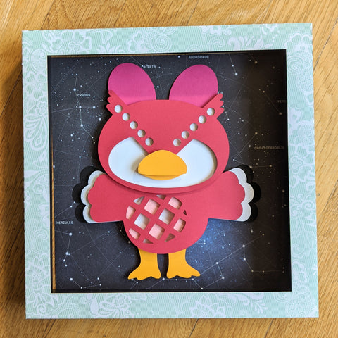"Celeste, Animal Crossing - 8""x8"" Shaowbox PaperCut"