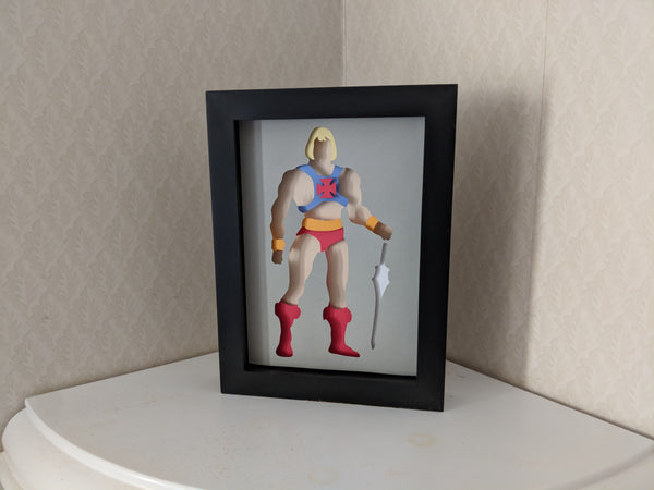 He-Man Shaowbox PaperCut
