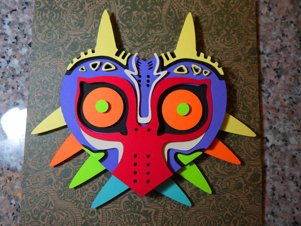 "Majora's Mask - 8""x8"" Shaowbox PaperCut"