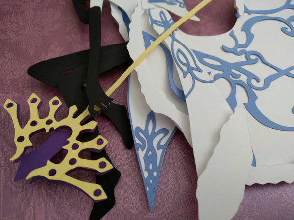 "Fai, Tsubasa Reservoir Chronicle  - 8""x8"" Shadowbox PaperCut"