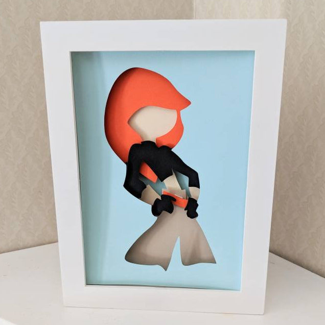 "Kim Possible - 5""x7"" Shaowbox PaperCut"