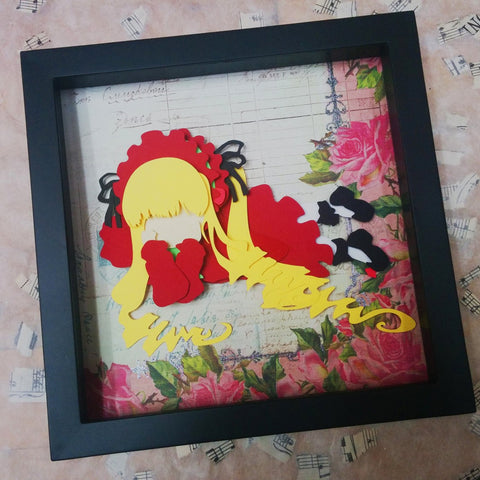 "Shinku Rozen Maiden - 8""x8"" Shaowbox PaperCut"