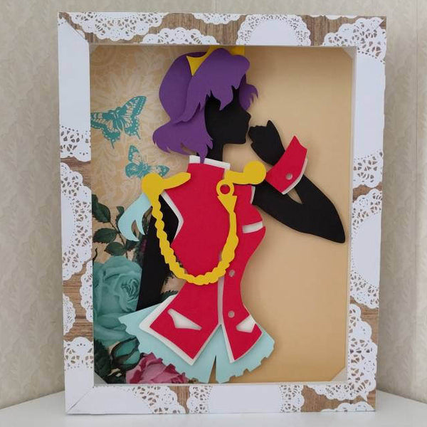"Anthy Himemiya,  Revolutionary Girl Utena - 8""x10"" Shaowbox PaperCut"