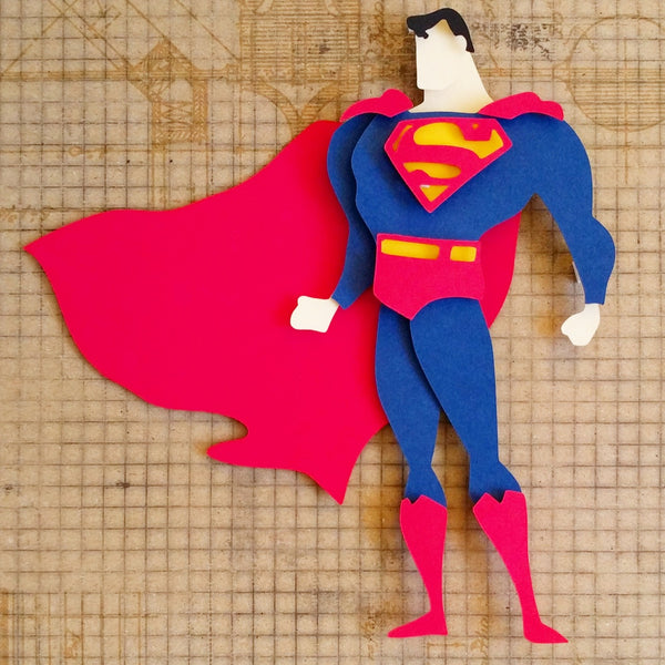 "Superman - 8""x8"" Shadowbox PaperCut"